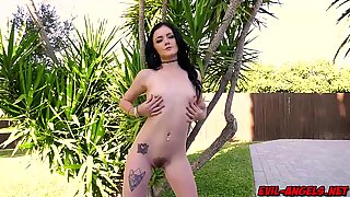 Rosalyn Sphinx masturbates as Mark strokes inside her butthole and then she takes a hot cock ride making her cum multiple times