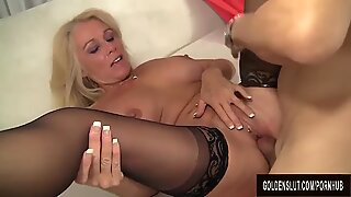 busty light-haired GILF Crystal Taylor Gets nailed to Perfection