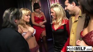 A gang hook-up sensation with Anna, Angelika, Britney, and Valery!