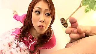 Пушење курца богиња Саки Козакура је зезнута