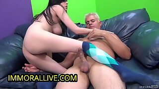 Heather Joy Half Japanese Girl Squirts & Perfect Boobs Coated in Cum