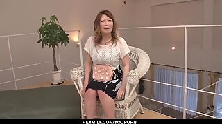 Busty MILF leaves younger stud to drill her restless - More at Japanesemamas.com