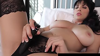 Busty Jelena Jensen Dildos Her Creamy Cunt & Licks It Clean!
