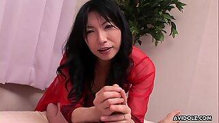 Seductive Japanese cougar, Saya Sakurai made love with a neighbor