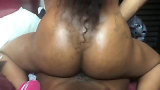 Sexy ebony begged for a facial but got cream-pied instead