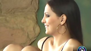 Fetching babe Maria Belucci and Eve Angel dildoing