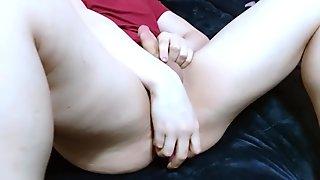 Goddess Purple Frost amateur masturbation at friend's house