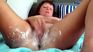 Dirty Talking Wife fuck here dripping wet cunt and creamy arse