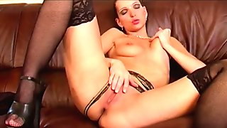 Devils Dolls 02 - Bravo Models Media - Dominika alone in hotel room dildo u
