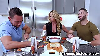 Milf stepmom in threesome