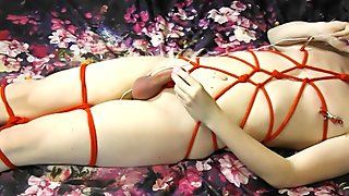 Masturbation & Cum 15 Shibari