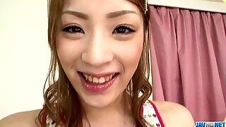 Yuu Mahiru gets cock to devour her juicy holes in hardcore