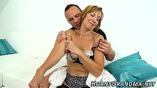 Gilf in stockings banged