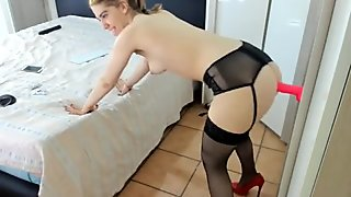 lady_anal fuck big dildo in ass
