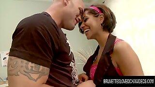 Brunettes Love Dick - Cute Princess Vanessa Leon Caught Watching Porn