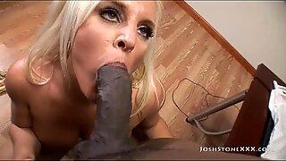 Curvy MILF Alexis Golden Sucks and Fucks Big Black Cock