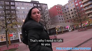 PublicAgent Maya with big tits gets fucked in a car park