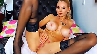 Gorgeous Busty Blonde Dildo Playtime