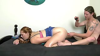 Hippiebees - Anal Dildo Show For Boyfriend