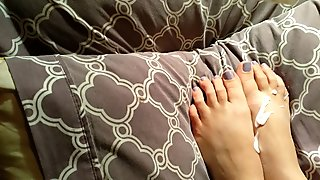 lotion and dildo foot play