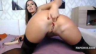 Brunette Milf Dildo Fucks Her Tasty Asshole