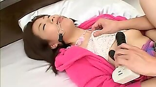 Naughty Japanese slut takes on a huge cock before covered in jizz