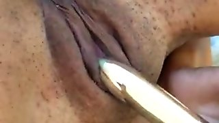 Teasing and enjoying my first anal plug