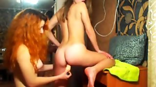 Fucking her girlfriend with dildo hot ukrainian BadFox and HotKet